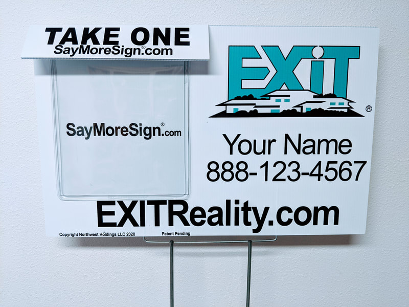 for sale by owner sign, for sale by owner, flyer box, flyer holder, info tube, for sale sign, real estate sign, for rent sign, brochure box, exit realty, remax, keller williams, century 21, coldwell banker